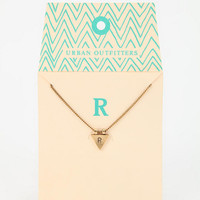 Triangle Initial Gift Card Necklace