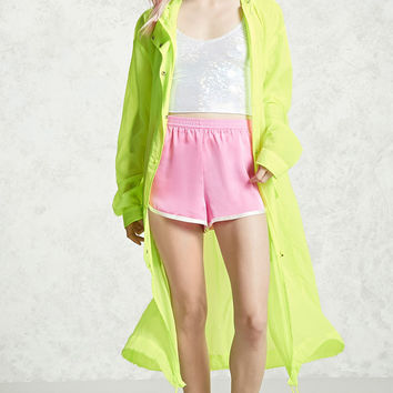 Sheer Longline Windbreaker
