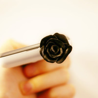 black flower rose, Dust Plug  Phone Dust Stopper Earphone Cap Headphone Jack Charm for iPhone 5 4 4s ,iPad ,Samsung s2 s3, 3.5mm