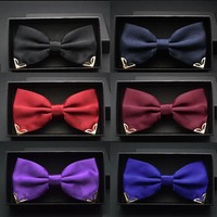 Men's Bow Ties Red butterfly gold yellow