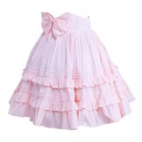 M4U Womens Cotton Ruffles Bow Lolita Skirt;Size:S