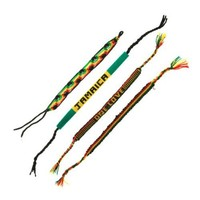 Rasta Handmade Woven Bracelets - Bob Marley and Jamaica - Made in Peru - Sold in a Set of 4