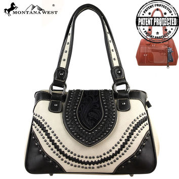 Montana West MW135G-8247 Tooling Concealed Carry Handbag