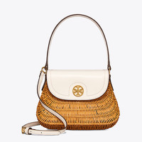 Tory Burch Lacquered Rattan Basket