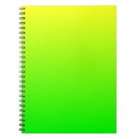 Yellow Green Gradient Spiral Note Book from Zazzle.com