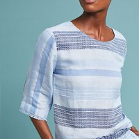 Cloth & Stone Textured Stripe Pullover