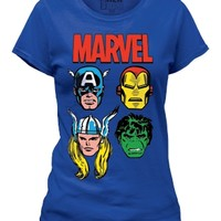 The Marvel Bunch Captain America Hulk Iron Man Thor Women's T-Shirt