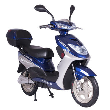 XB-504 Electric Bicycle Moped Scooter 500 Watt Motor, 12 AH Battery
