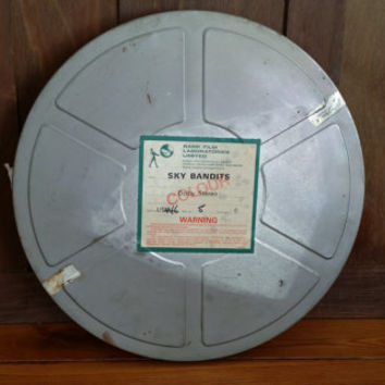Vintage Large Metal Film Reel Canister Great for Media Room Decor Repurposing Upcycling Altered Art