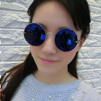 Big Alloy Lennon Frame Sunglasses