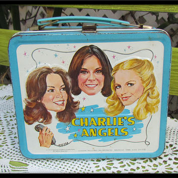 Vintage Original Aladdin Metal Charlie's Angels Lunch Box SALE