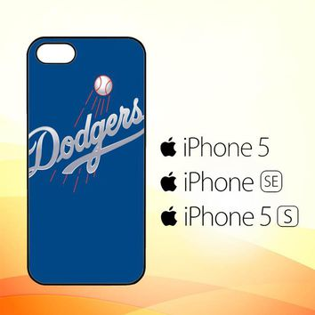 Dodgers Full Baseball League Logo E1013  iPhone 5|5S|SE Case