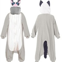 Grumpy Cat Costume Hooded Kigurumi One Piece Pajama
