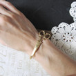 CLIP brass scissors bracelet bangle (gold)