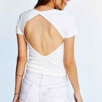 Silence + Noise Open Back Cropped Top-