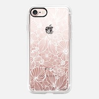 white candy flowers iPhone 7 Carcasa by Julia Grifol Diseñadora Modas-grafica | Casetify