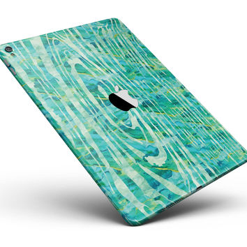 """Green Watercolor Woodgrain Full Body Skin for the iPad Pro (12.9"""" or 9.7"""" available)"""