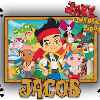 Personalized Custom NAME T-shirt Disney Jake and the Neverland Pirates
