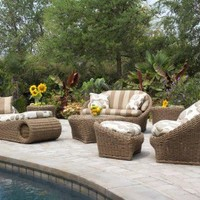Cirque Wicker 7 Piece Conversation Package