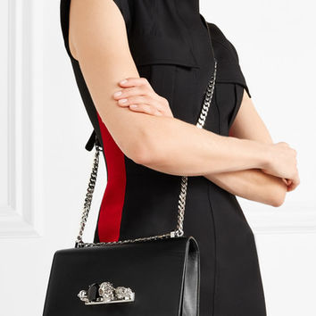 Alexander McQueen - Jewelled Satchel embellished leather shoulder bag