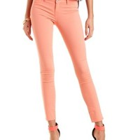 "Refuge ""Skin Tight Legging"" Colored Skinny Jeans - Coral"