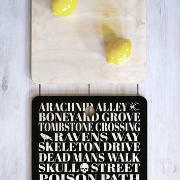 Heather Dutton Dead Mans Walk Cutting Board Square
