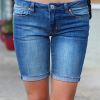 DEX Jeans: Houston Bermuda Roll Up Shorts {Medium Vintage}