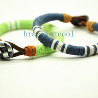 simple style cotton rope bracelet cuff, men's bangle cuff, women's leather bracelet, gift  RC1
