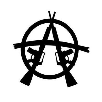 Anarchy Gun Logo  Vinyl Car/Laptop/Window/Wall Decal