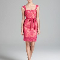 Aidan Mattox Dress - Cap Sleeve Lace | Bloomingdale's