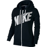 Women's Nike Club Graphic Full-Zip Fleece Hoodie