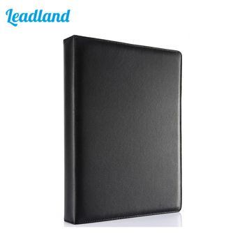 3 Ring Binders A4 PU Leather Files Folder Travel Files Portfolios Fashion Style Business Office Supplies A295 Black