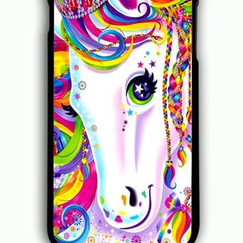 iPhone 6S Plus Case - Hard (PC) Cover with Lisa Frank Majesty The Rainbow Horse Plastic Case Design