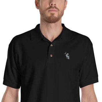 WP Mikey Houser Palmetto Moon Grey Embroidered Polo Shirt