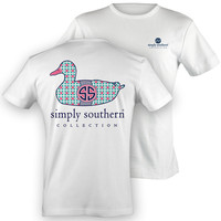NEW Simply Southern Preppy PRP Pattern Mallard SS Duck Girlie Bright T Shirt