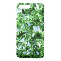 Emerald green geode crystal gemstone photo hipster iPhone 8 plus/7 plus case