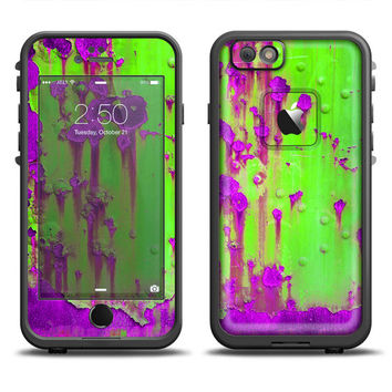 The Lime Green Metal with Hot Purple Rust LifeProof Case Skin (Other LifeProof Models Available!)