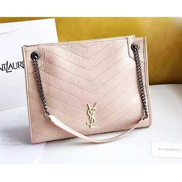 YSL Saint Laurent Simple casual V-shaped rhombic large capacity bag shoulder bag chain bag handbag