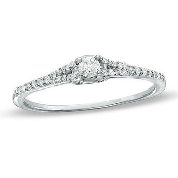 1/5 CT. T.W. Diamond Promise Ring is 10K White Gold - Save on Select Styles - Zales