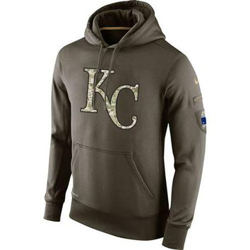 Kansas City Royals Nike MLB Salute To Service Pullover Hoodie