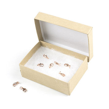 Rose Gold Lobster Clasp, 12mm, 8 Pack