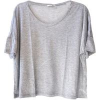 Clu Grey Crop Top