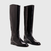 Riding Boot - Black Leather