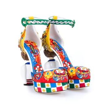 DOLCE & GABBANA   Carretto Mary Janes   brownsfashion.com   The Finest Edit of Luxury Fashion   Clothes, Shoes, Bags and Accessories for Men & Women