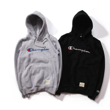 Tide brand Champion logo sets of head sweater hooded cotton plus velvet