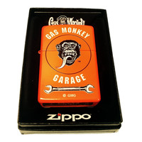 Zippo Custom Lighter - Gas Monkey Garage Logo - Regular Neon Orange ZP - AH - 28888-CI400689