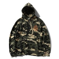 "Camouflage ""ASSC"" Casual Letter Print Long Sleeve Hoodie Sweater"