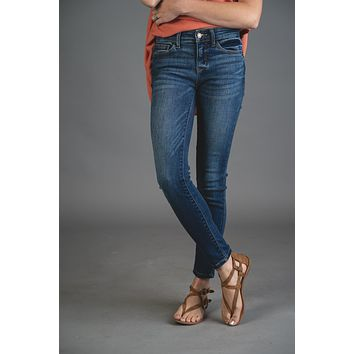 Kendra Medium Dark Wash Judy Blue Skinny Jeans