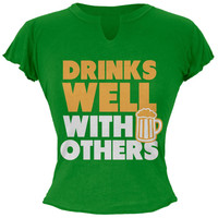 St. Patricks Day - Well With Others Juniors Raw Edge T Shirt