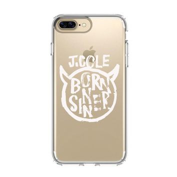 BORN SINNER J COLE iPhone and Samsung Galaxy Clear Case